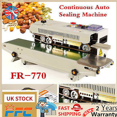Automatic Horizontal Continuous Plastic Bag Band Sealing Machine Sealer FR-770