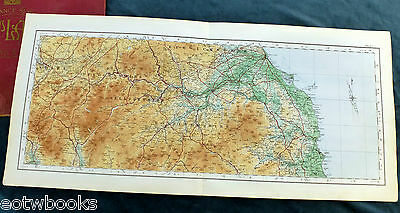 SCOTLAND & THE BORDERS, BERWICK - 1922, Original Vintage cloth OS MAP