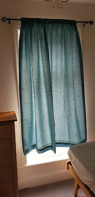 Teal/ Light Blue Curtains ( 163cm x 164cm ) in perfect condition.