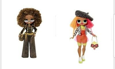 Choice of 2 LOL Surprise OMG Fashion Dolls SWAG Lady Diva Royal Bee Neonlicious