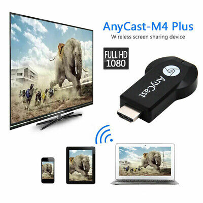 1 X New M4 Plus WiFi Display Dongle Receiver Airplay Miracast HDMI TV DLNA 1080P