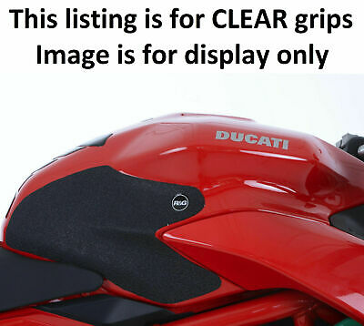 Ducati Supersport & Supersport S 2017-2018 R&G 2 PIECE CLEAR Tank Traction Grips