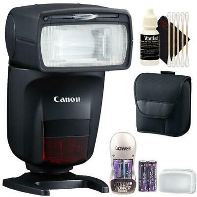 Canon Speedlite 470EX-AI Hot-Shoe Flash with Battery & Charger + Cleaning Kit