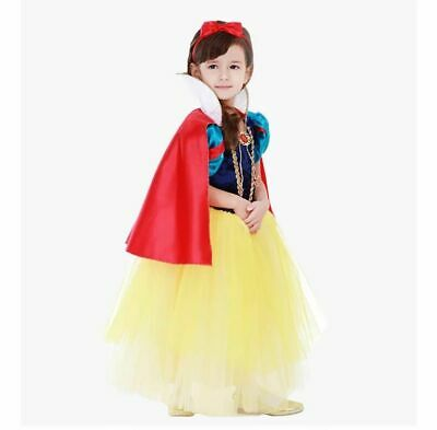 Snow White High quality Girls Inspired Princess Dress Party Fancy Dress Costume