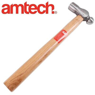 8oz BALL PEIN HAMMER Wooden Handle Mechanic Engineer Metalwork Welding Hand Tool
