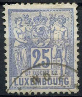 Luxembourg 1882-1884 SG#88a 25c Ultramarine P12.5x12 Used #D98927