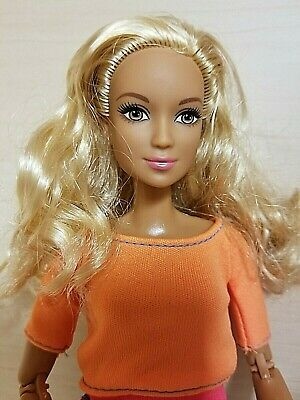 Barbie Doll Made To Move Orange Top