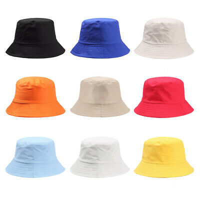 Casual  Cotton  Children Girls  Fisherman Cap Bucket Hat Candy Color Sun Caps