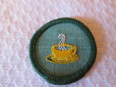 HOSTESS 1960-62 ONLY Intermediate Girl Scout Badge Steaming Cup Hospitality