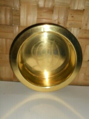 "Vintage Solid Brass Bowl / Wine Holder by ""Department 56"""