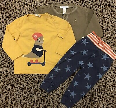 Baby Boden & Janie + Jack Boys Set Shirt Pants & Thermal Size 18-24 Months