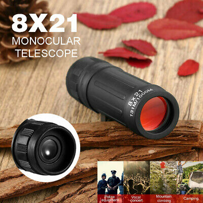 8x21 Digital Pocket Monocular Telescope Handy Scope For Sports Camping Hunting