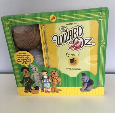 The Wizard of Oz Crochet Kit Pattern For 12 Characters - Yarn Hook Eyes Stuffing