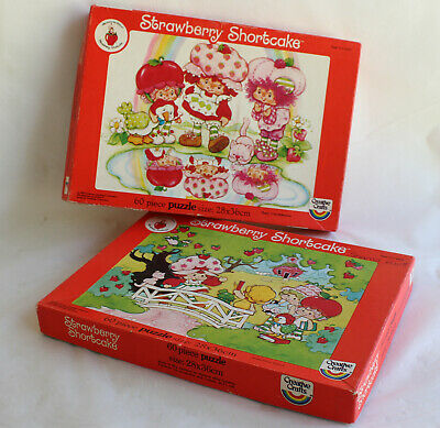Vintage 2 STRAWBERRY SHORTCAKE 60 piece Puzzles 1983 Creative Crafts