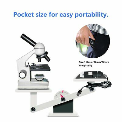 USB Digital Microscope 500X/1000X Endoscope Zoom Camera Magnifier with 8 LED ZT