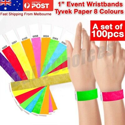 25mm Wide Tyvek Wristbands Event Party Festival SecurityID consecutively number
