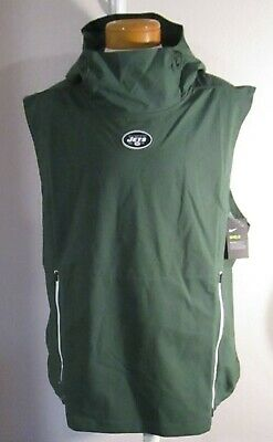 best service df3e1 abf65 NWT NIKE SIDELINE Fly Rush NFL NEW YORK JETS Vest Hoodie ...