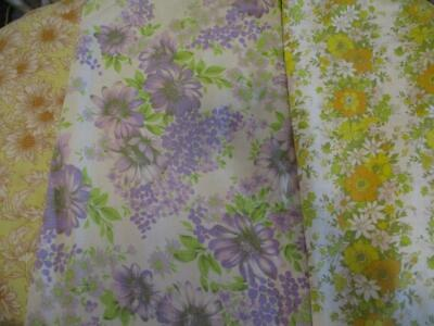 X 4 Vintage RETRO Floral Single SHEETS -CUTTERS -CRAFTS-DRESSMAKING -SEWING