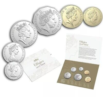2019 Effigies Over Time Unc Six Coin Year Set-Royal Aus Mint-Free Post-Superb !!