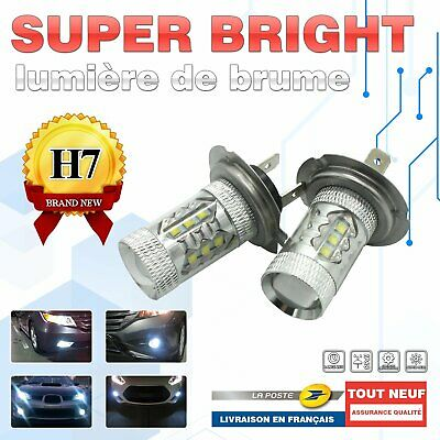 2xH7 LED BLANC 6000K 55W Voiture Feux Phare Lampe Remplacer xenon halogène osram