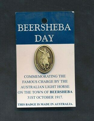 Australia: 2004 Beersheba Day (Commemorating the Charge)  Badge with pin