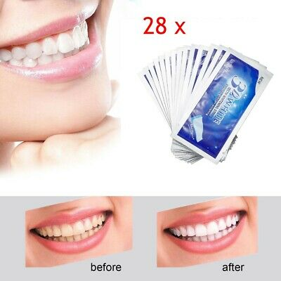 28 Bandes Blanchiment de Dents 3D White Professionelles Gel Blanchiment Dentaire