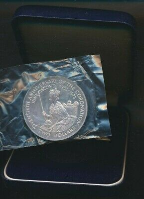Cook Is: 1973 QEII Coronation 20th Anniversary Silver Proof $2, Cased