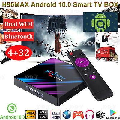 X10 Plus 6K Android 9.0 Pie 4+64G Quad Core Smart TV Box WIFI Media Player HDMI