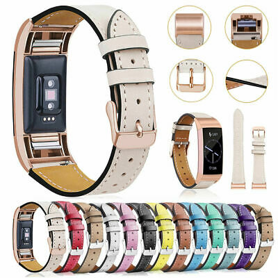 Genuine Leather Replacement Band Strap Wristband Braclet For Fitbit Charge 2 UK