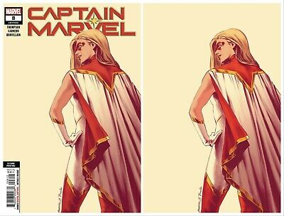Captain Marvel #8 Virgin Exclusive Variant Set Star 1St Cover Appearance 08/28