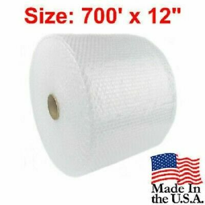 """Bubble Cushion Wrap 3/16"""" 700 Ft. X 12"""" Padding Perforated Moving Shipping Roll"""