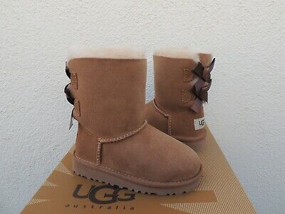 b59adb3417f NEW UGG TODDLER Dixi Flora Perf Little Boots Chestnut Size 9 ...