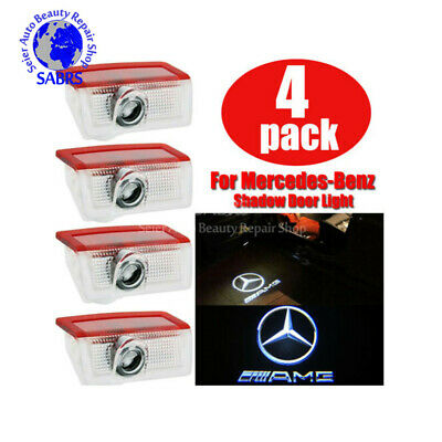 4PCS for Mercedes-Benz Shadow LED Door Ghost Light Logo Courtesy Projector Laser
