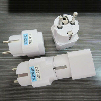 US UK AU To EU Europe Travel Charger Power Adapter Converter Wall Plug Home`BC