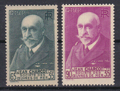 FRANCE 1938 Yv 377 and 377A Charcot MNH** Luxe 35.5€