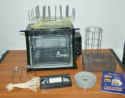 Ronco Compact Showtime Rotisserie & BBQ Oven Basket, Stainless Model 3000