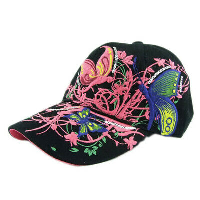 280ac6843 AKIZON BASEBALL CAP For Women With Butterflies And Flowers ...