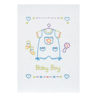ANCHOR | Embroidery Kit: Baby Boy - Gift Card | RDK41