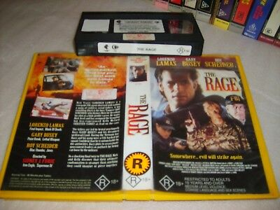 THE RAGE - Rare 1997 Home Cinema Vhs Issue - Gary Busey - Cult Action Thriller!