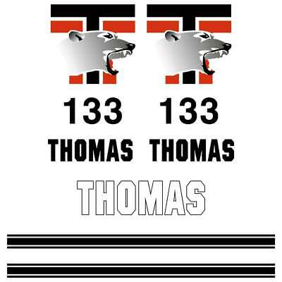 Thomas T133S Decals Stickers New Repro Decal Kit