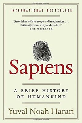 Sapiens : A Brief History of Humankind  by Yuval Noah Harari Paperback #1 NEW
