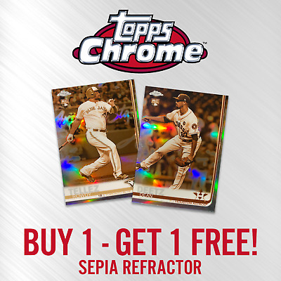 2019 TOPPS CHROME SEPIA REFRACTOR You Pick Your Card #1-240 BUY 1 GET 1 FREE!