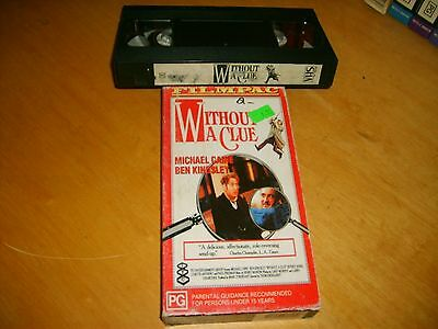 Without a Clue - 1988 RARE Australian Filmpac Carton Vhs Issue - Crime Thriller