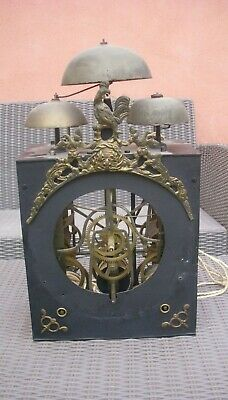 Rare Movement Rooster Clock Pendulum Comtoise Clock 3 Bells