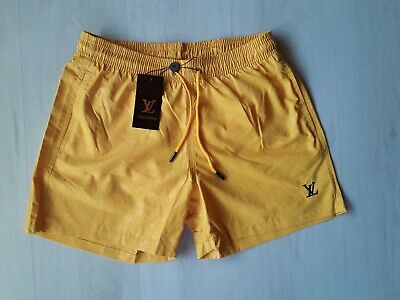 LV  men swimwear swim shorts beach shorts color yellow