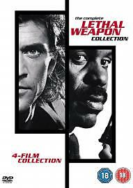 Lethal Weapon Collection - 1 - 4 (DVD, 4-Disc Box Set) . FREE UK P+P ...........