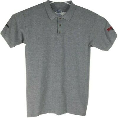 Mens Motorcraft Ford Motor Company Abar Automotive Embroidered Gray Polo Shirt