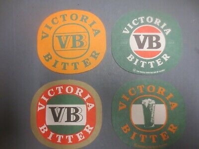 complete set of  4 VICTORIA BITTER ,LATEST ISSUE  Issued Coasters