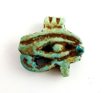 Rare Eye Of Horus Wedjet Ancient Egyptian Antiques Stone Amulet Rare Faience