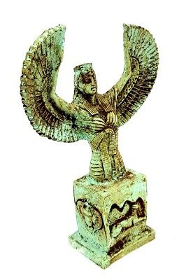 Very Beautiful Winged Isis Statue Egyptian Antique Sculpture W/T King Tut Mask